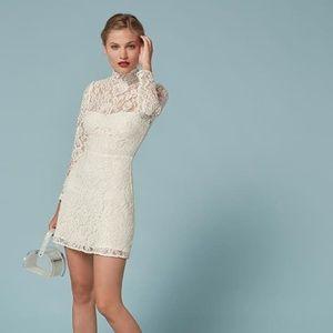 Reformation Celia Dress in Ivory size 8 NWT